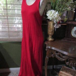 MODA INTE!>RED SLEEVELESS LONG DRESS!